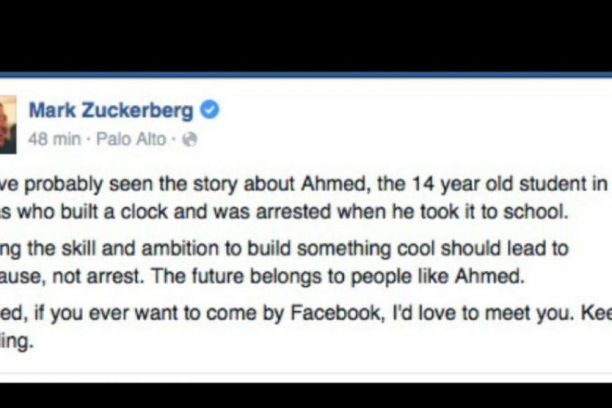 Mark Zuckerberg lo invitó a Facebook. Foto:vía Facebook. Imagen Por:
