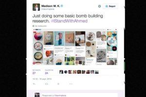 """""""Haciendo una búsqueda básica de como construir una bomba"""", escribió Madison M.K. Foto:vía Twitter. Imagen Por:"""