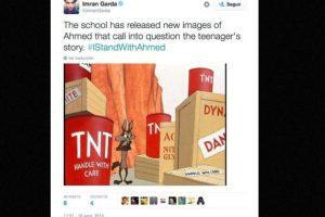 """""""La escuela publicó nuevas imágenes de Ahmed que dejan sin dudas la historia del niño"""". Foto:vía Twitter. Imagen Por:"""