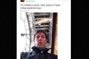 """""""Estoy dentro de un reloj. Es muy escalofriante estar aquí"""" Foto:vía Twitter. Imagen Por:"""