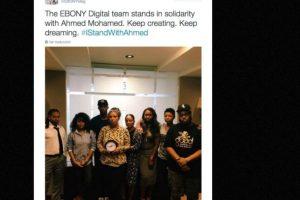 La revista Ebony Magazine también mostró su solidaridad con el adolescente Foto:vía Twitter. Imagen Por: