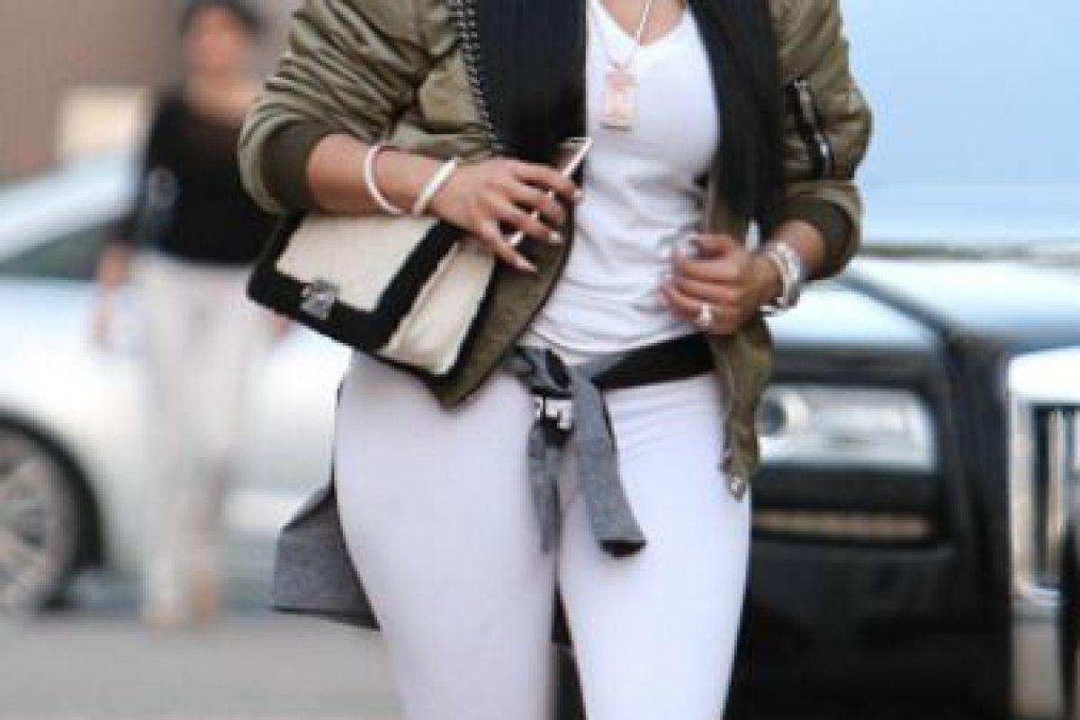 Leggings blancos como pantalones para que se vea TODO. No. Foto:vía Getty Images. Imagen Por: