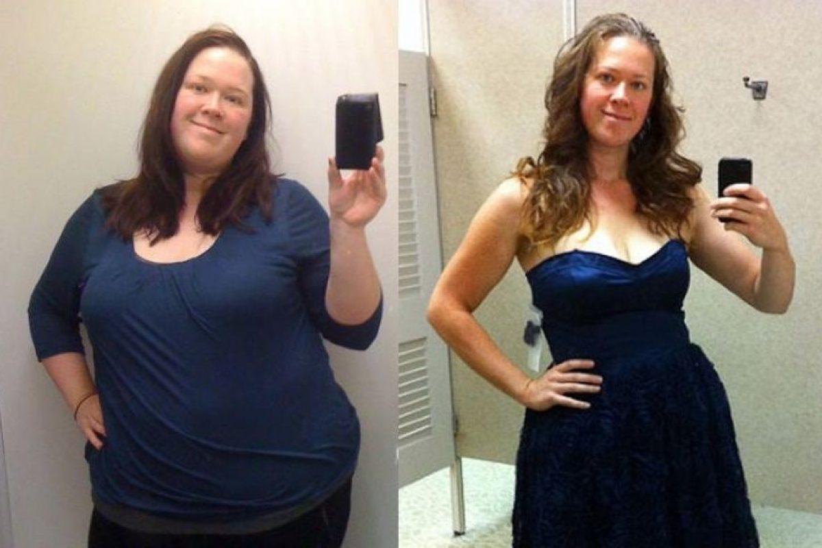 Julia pesando 153 kilos en 2009 y actualmente, pesando 80. Foto: Juliakozerski. Imagen Por: