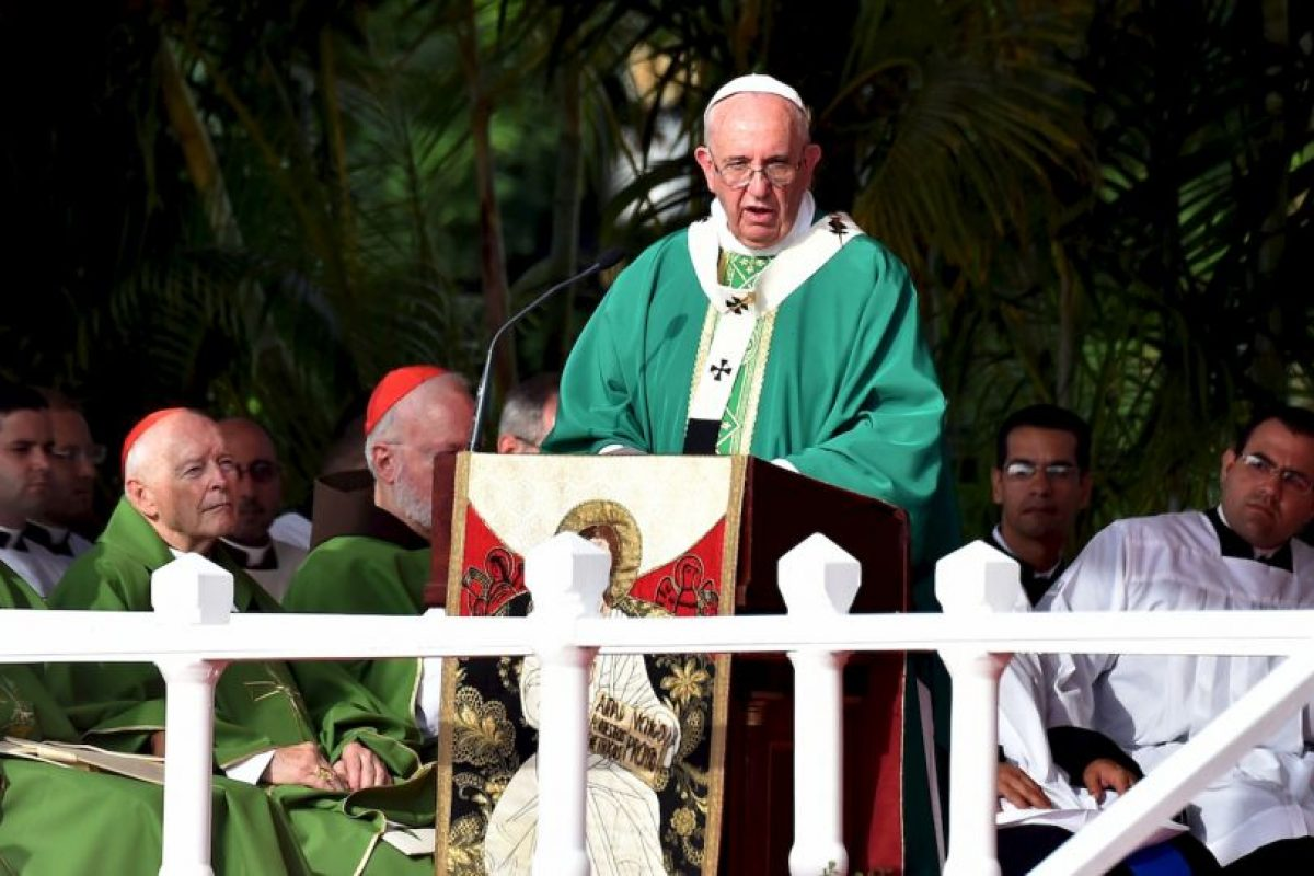 El papa Francisco realizó la misa en la Plaza de la Revolución en La Habana, Cuba. Foto:AFP. Imagen Por: