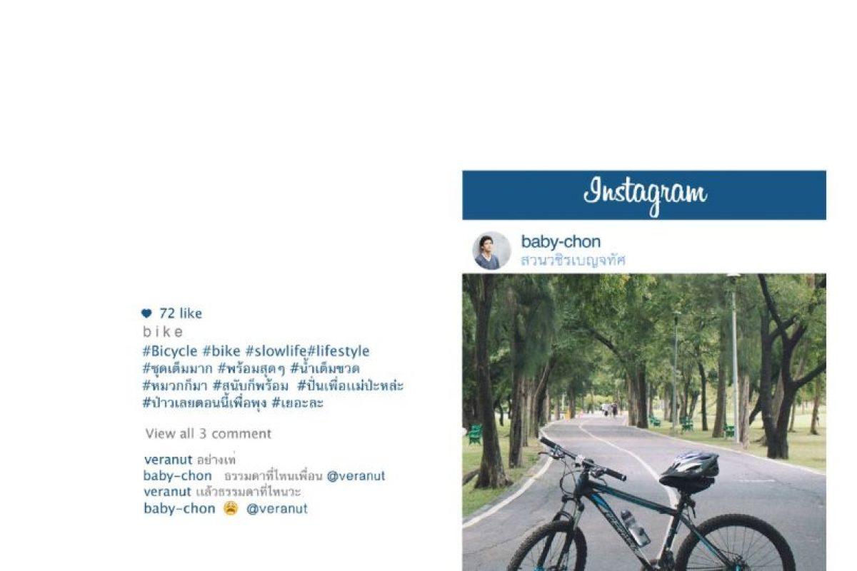 Bicicletas, para mostrar vida sana. Foto:vía Facebook/Chompoo Baritone. Imagen Por: