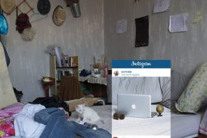 """Una habitación digna de """"Los Miserables"""". Foto:vía Facebook/Chompoo Baritone. Imagen Por:"""