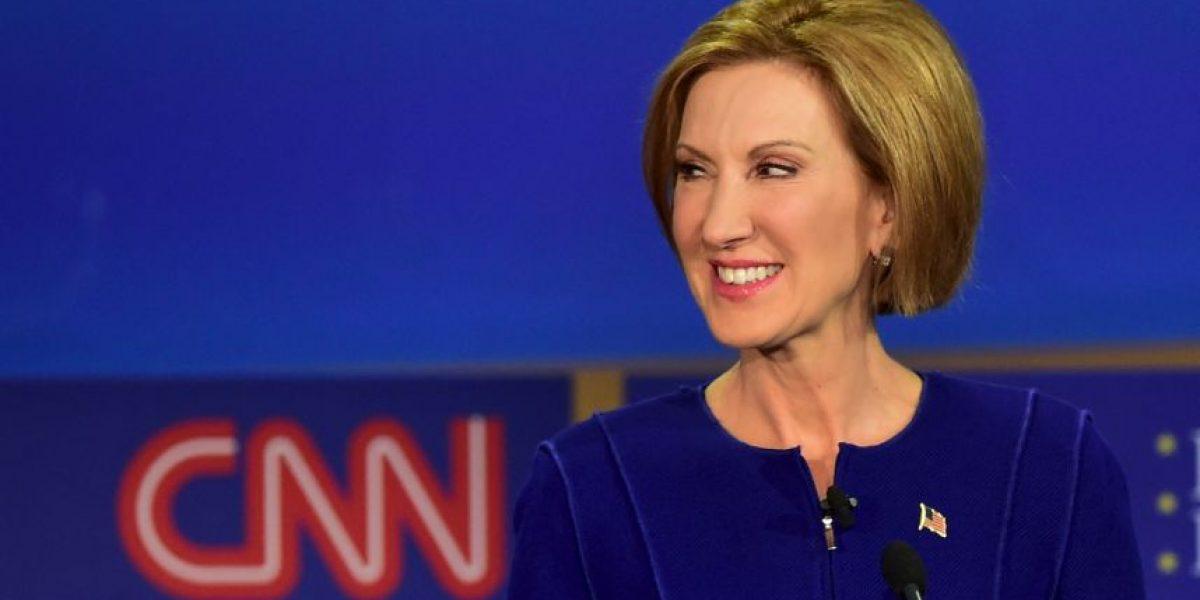 Carly Fiorina busca la primera posición entre candidatos republicanos
