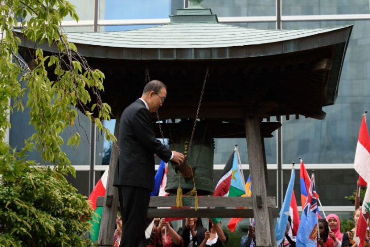 El Secretario General de la ONU, Ban Ki-Moon, participó en una ceremonia llevada acabo en Nueva York, Estados Unidos. Foto:AFP. Imagen Por:
