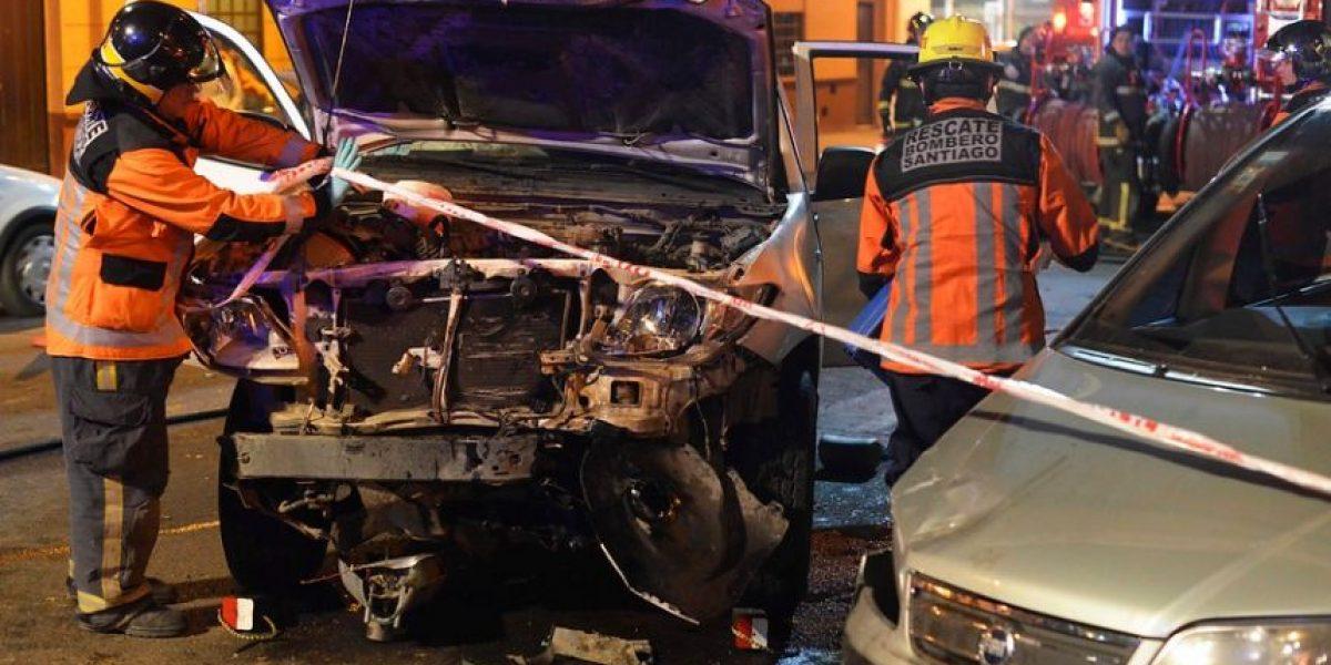 Accidente deja 3 heridos en Santiago: se investiga exceso de velocidad