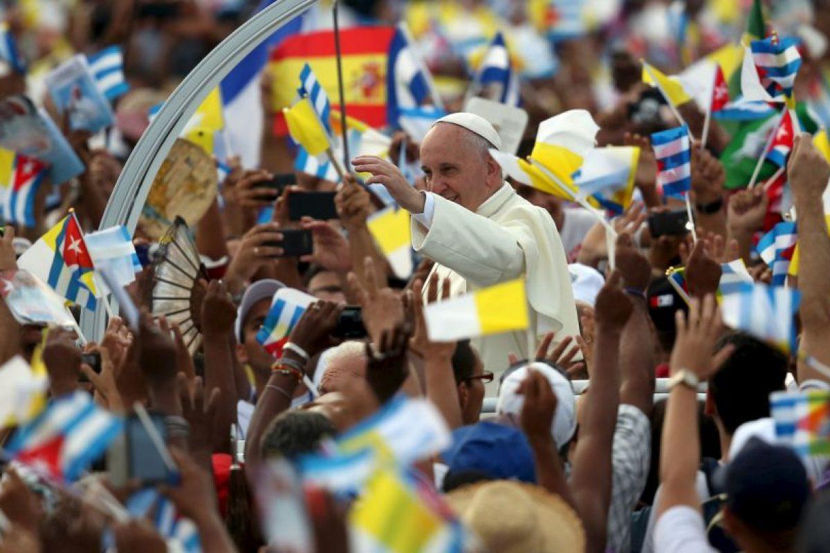 Allí ofreció una histórica misa en la Plaza de la Revolución en La Habana. Foto:Getty Images. Imagen Por: