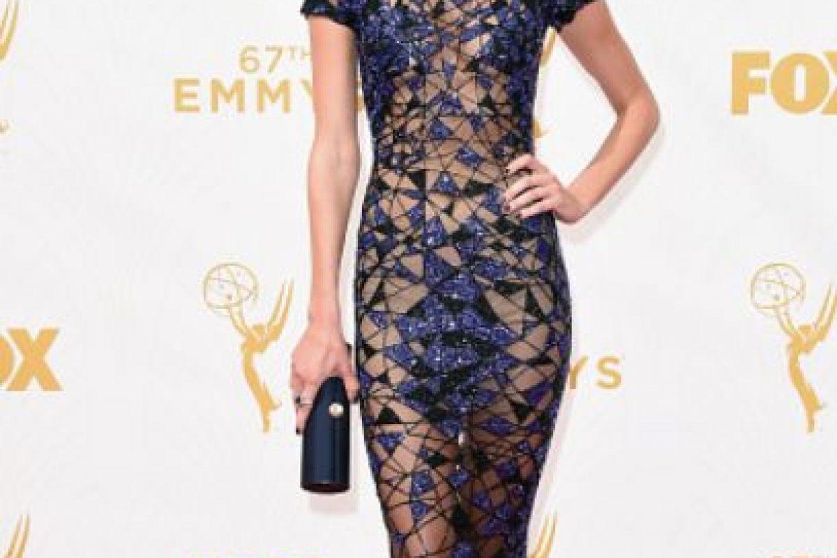 Christine Marzano, azul y nude. Impecable. Foto:vía Getty Images. Imagen Por: