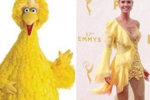 Heidi en Versace. Foto:vía Getty Images. Imagen Por: