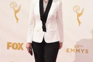 Jane Lynch como Harry Styles a los 50 años en la alfombra roja. Foto:vía Getty Images. Imagen Por: