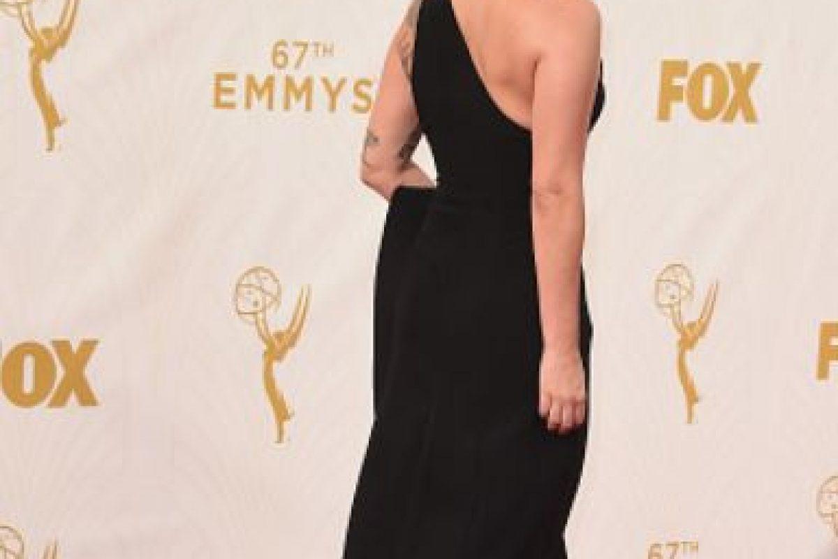 Mostró que el negro reina en la alfombra roja. Foto:vía Getty Images. Imagen Por: