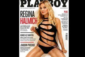 Regina Halmich. La exboxeadora alemana volvió a posar para Playboy, 12 años después de su primer aparición Foto:Playboy. Imagen Por: