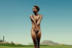 Sadena Parks. La golfista estadounidense también se mostró al natural Foto:ESPN. Imagen Por: