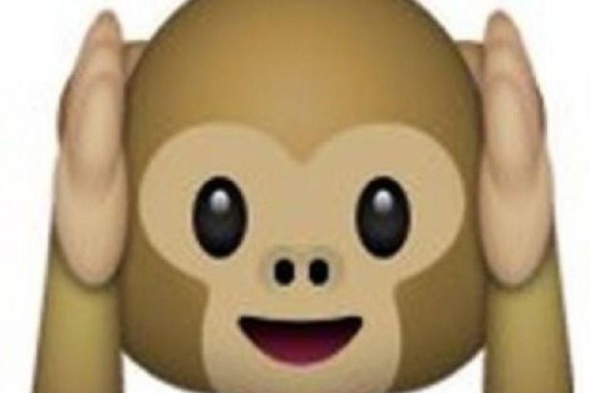 """Es uno de los tres monos sabios, parte de un proverbio budista que en este caso es: """"No voy a escuchar el mal"""". Utilizado para: """"No quiero escuchar eso"""". Foto:emojipedia.org. Imagen Por:"""