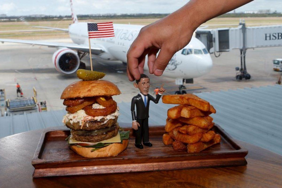 Un restaurante de hamburguesas en Australia utilizó la imagen del presidente para nombrar a sus hamburguesas Foto:Getty Images. Imagen Por: