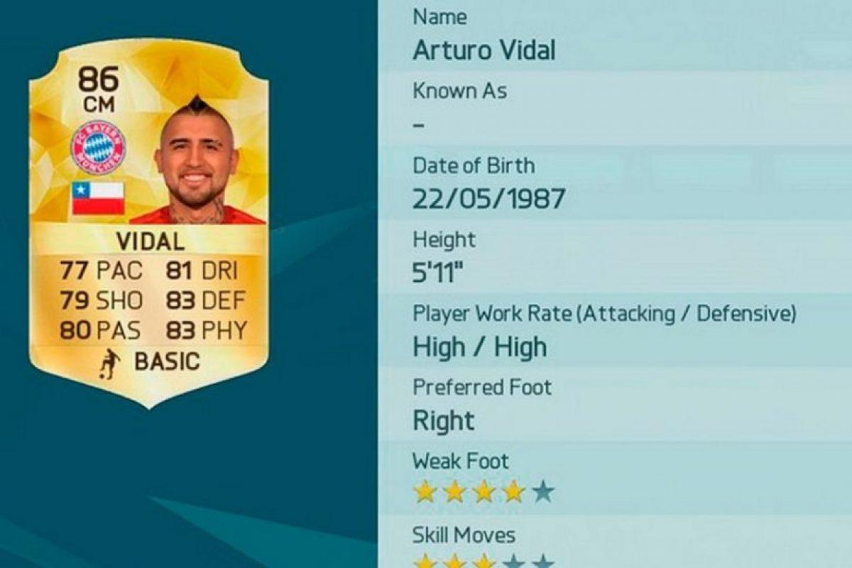 9.- Arturo Vidal (Chile) Foto:EA Sports. Imagen Por:
