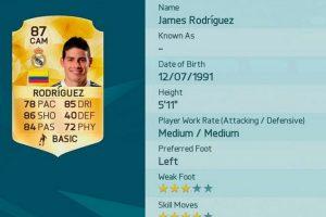 6.- James Rodríguez (Colombia) Foto:EA Sports. Imagen Por: