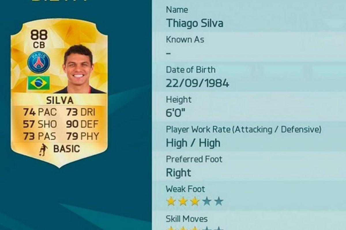 4.- Thiago Silva (Brasil) Foto:EA Sports. Imagen Por: