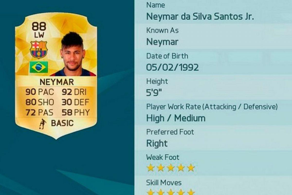 3.- Neymar (Brasil) Foto:EA Sports. Imagen Por: