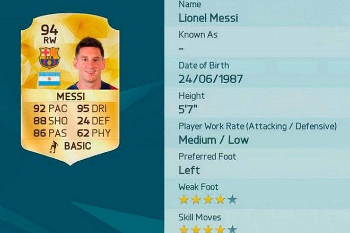1.- Lionel Messi (Argentina) Foto:EA Sports. Imagen Por: