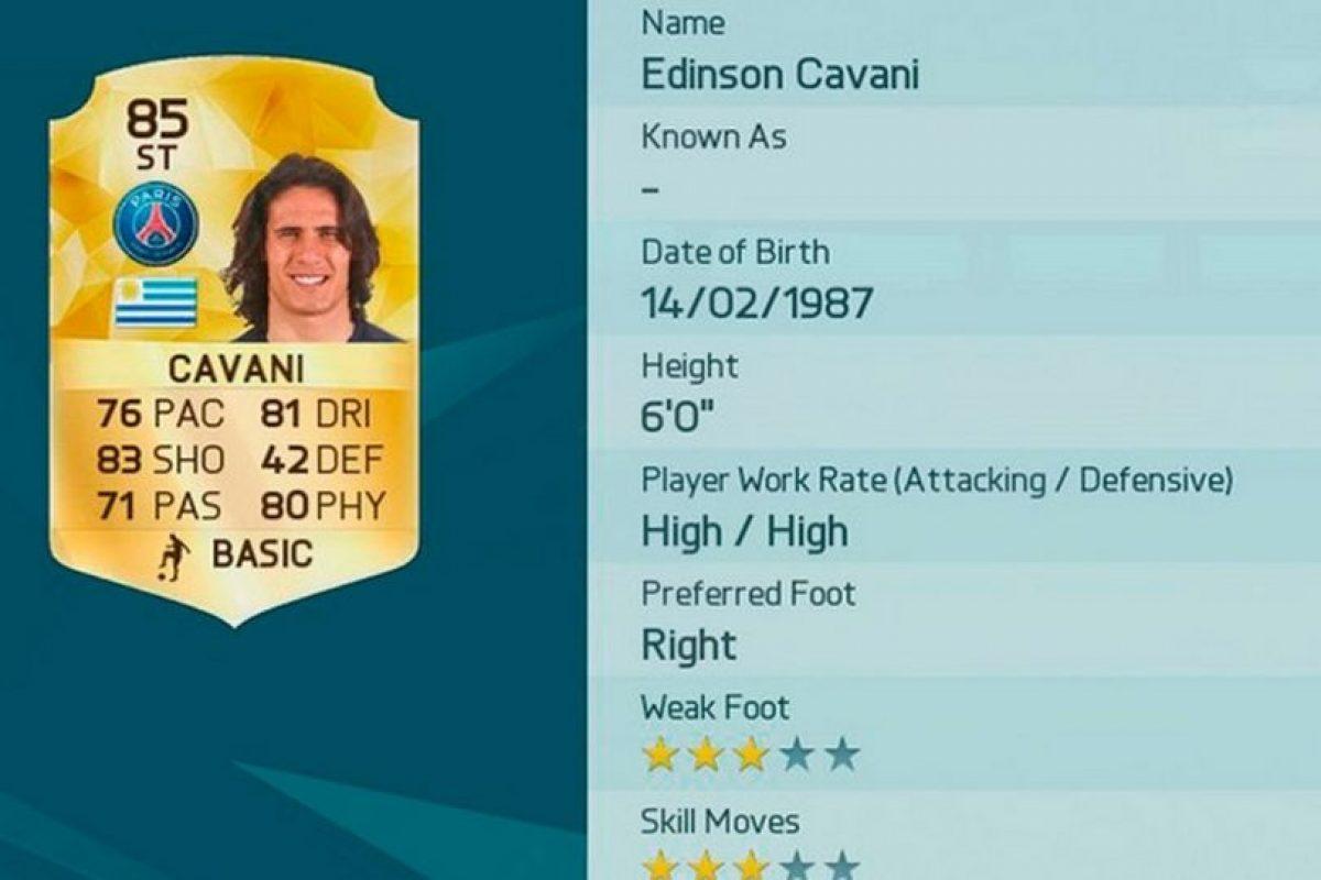 12.- Edinson Cavani (Uruguay) Foto:EA Sports. Imagen Por: