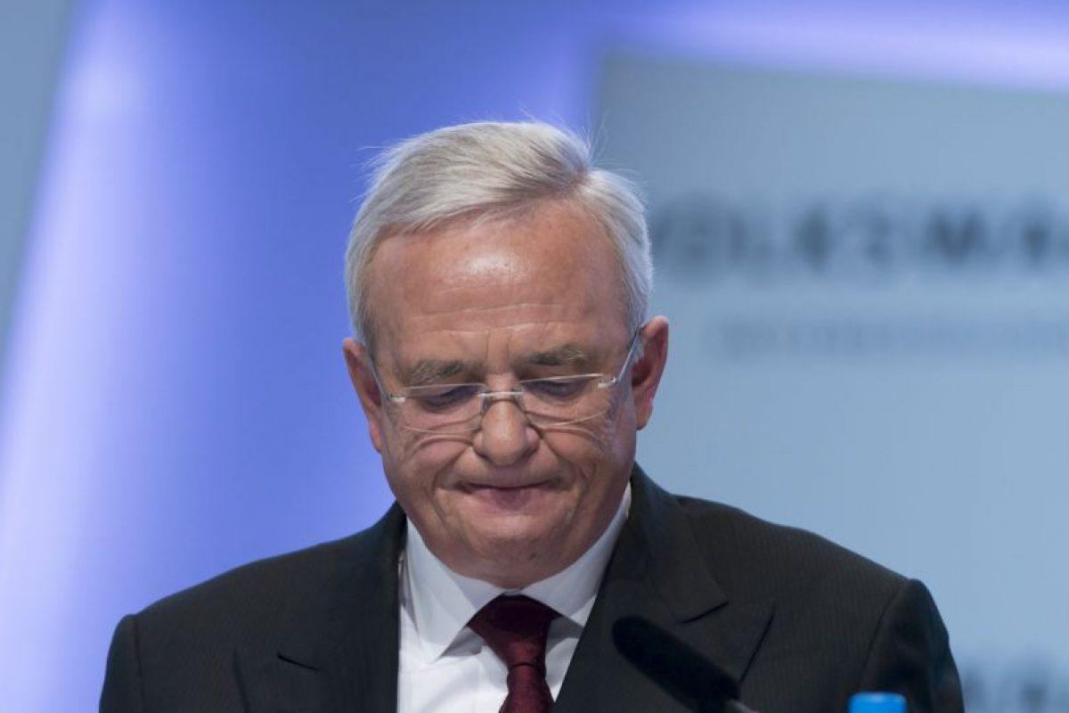 Por otra parte se sospecha que el CEO Martin Winterkorn podría perder su puesto. Foto:AFP. Imagen Por: