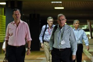 La delegación representante del gobierno colombiano en las negociaciones de paz llevadas a cabo en La Habana desde hace tres años Foto:Efe. Imagen Por: