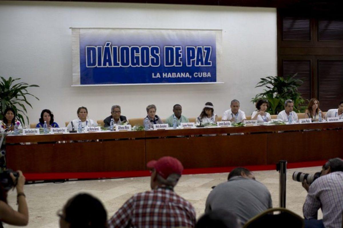 """Antes de la reunión el presidente colombiano Juan Manuel Santos había declarado """"La paz está cerca"""". Foto:AP. Imagen Por:"""