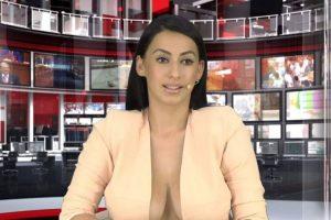 """Y actualmente trabaja como locutora de noticias en el canal """"Zjarr"""" de la televisión abierta en Albania. Foto:Vía Facebook.com/enki.bracaj. Imagen Por:"""