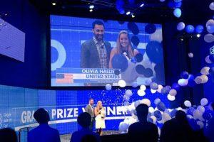Olivia Hallisey, estadounidense de 16 años, fue la ganadora de la beca de 50 mil dólares de la feria de ciencia de Google 2015 Foto:Google Science Fair. Imagen Por: