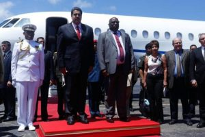Esta es la primera vez que Nicolás Maduro visita la isla caribeña. Foto:Vía Twitter @kchikmo. Imagen Por: