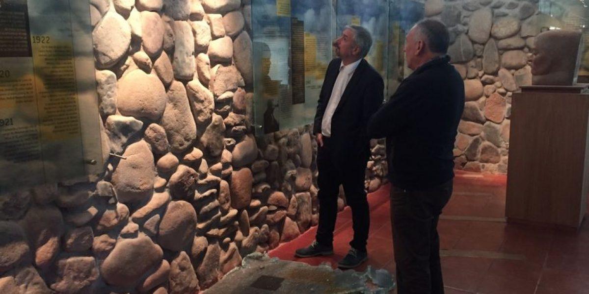 Ministro Ottone evaluó en terreno los daños en el Museo y Casa de Gabriela Mistral