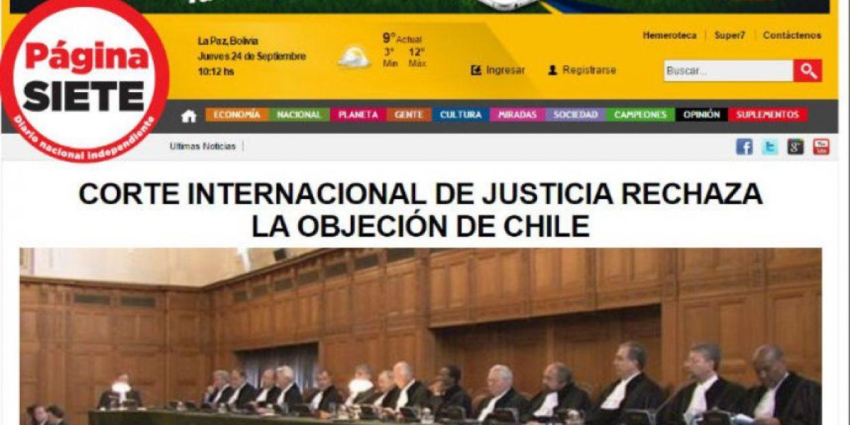 Así la prensa boliviana destacó la resolución de la Corte de La Haya