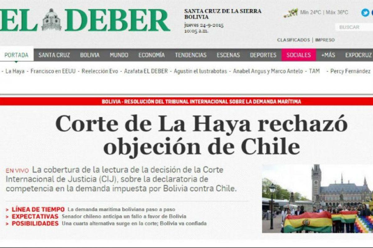 Foto:Reproducción / El Deber. Imagen Por: