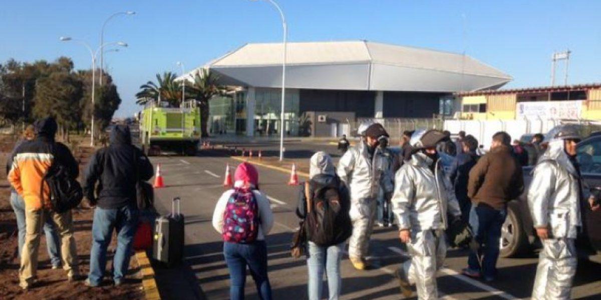 Evacúan aeropuerto de Antofagasta por presencia de objeto sospechoso
