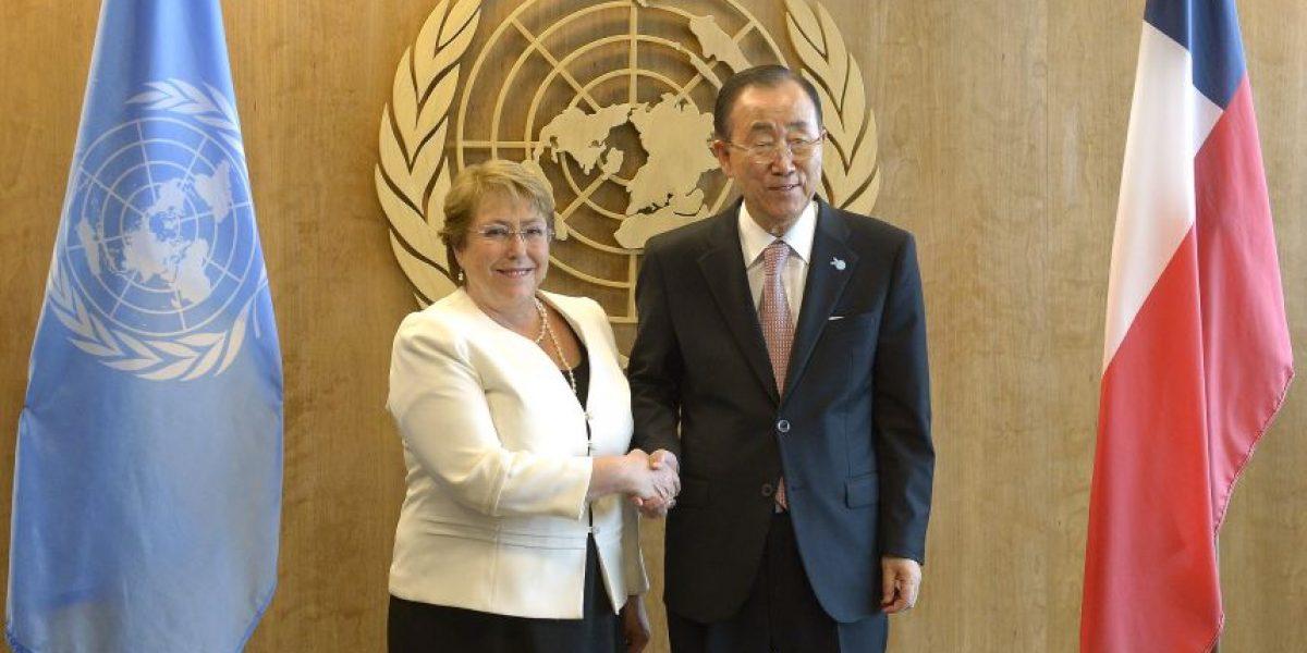 Presidenta Bachelet se reúne con el Secretario General de Naciones Unidas