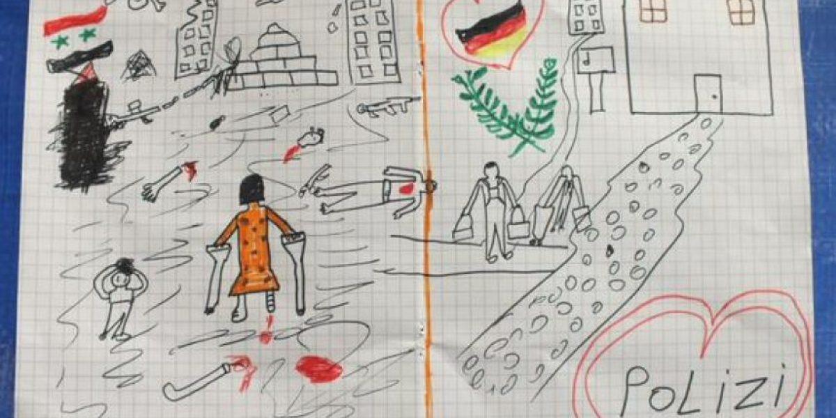 El dibujo de un niño sirio sobre el horror en su país que está conmoviendo al mundo