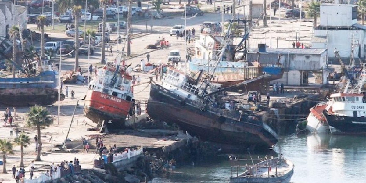 Las imágenes que marcan el antes y después de Coquimbo tras el tsunami