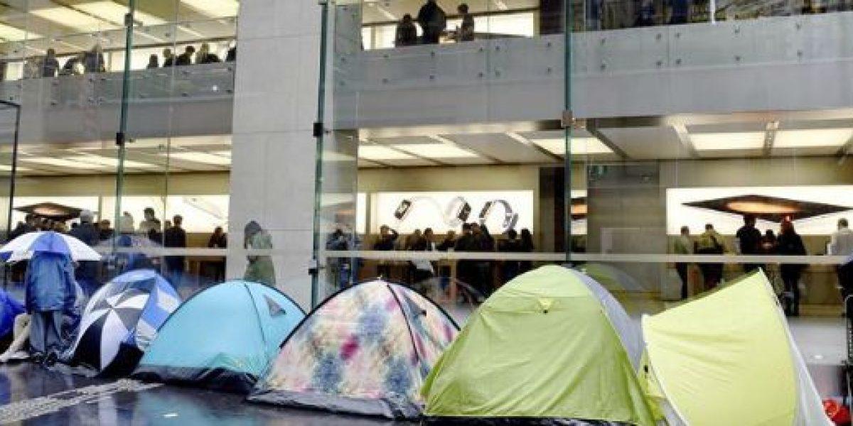 Australianos hasta acamparon para adquirir los nuevos modelos del iPhone