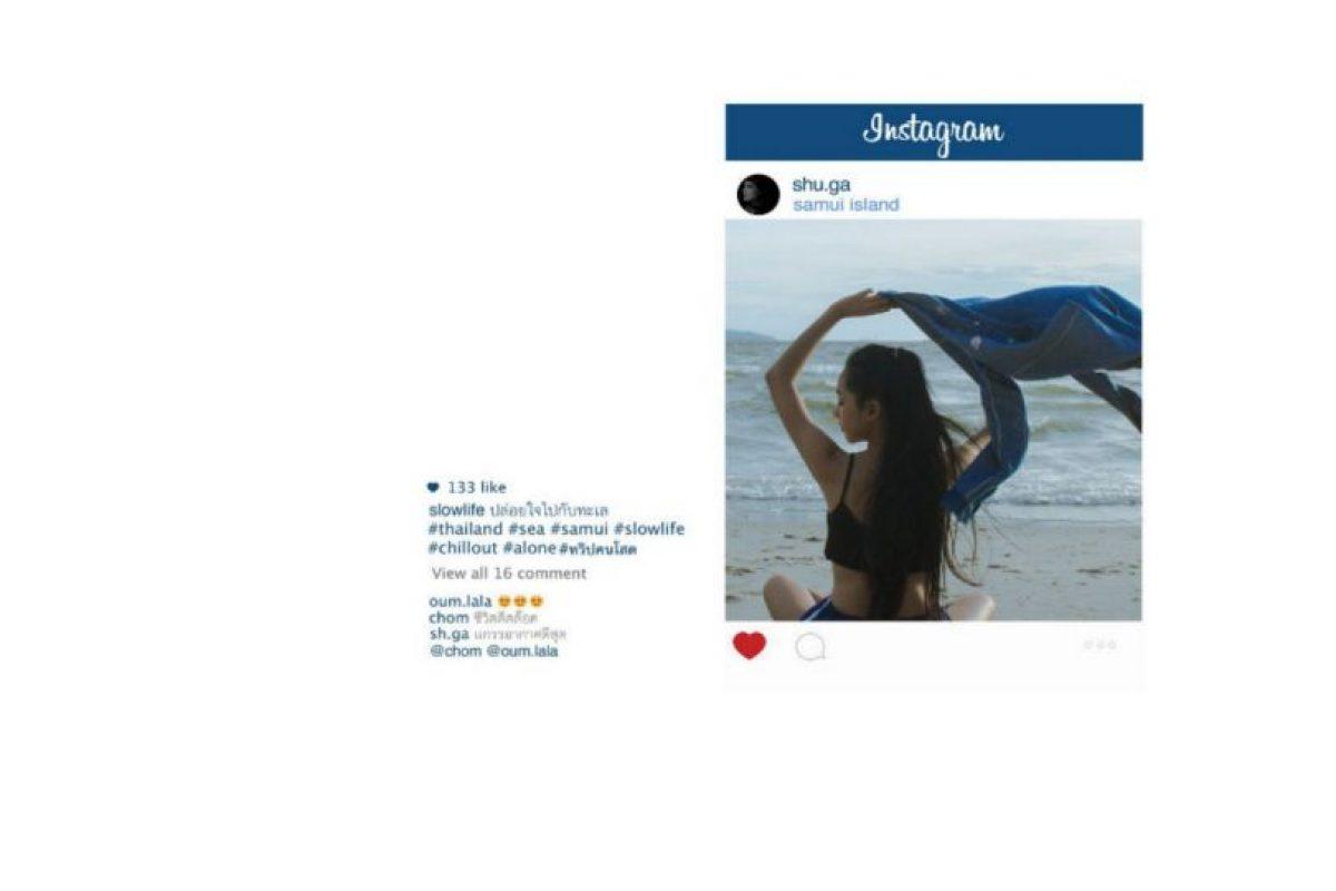 Lo que ven en Instagram Foto:facebook.com/chompoo.baritone. Imagen Por: