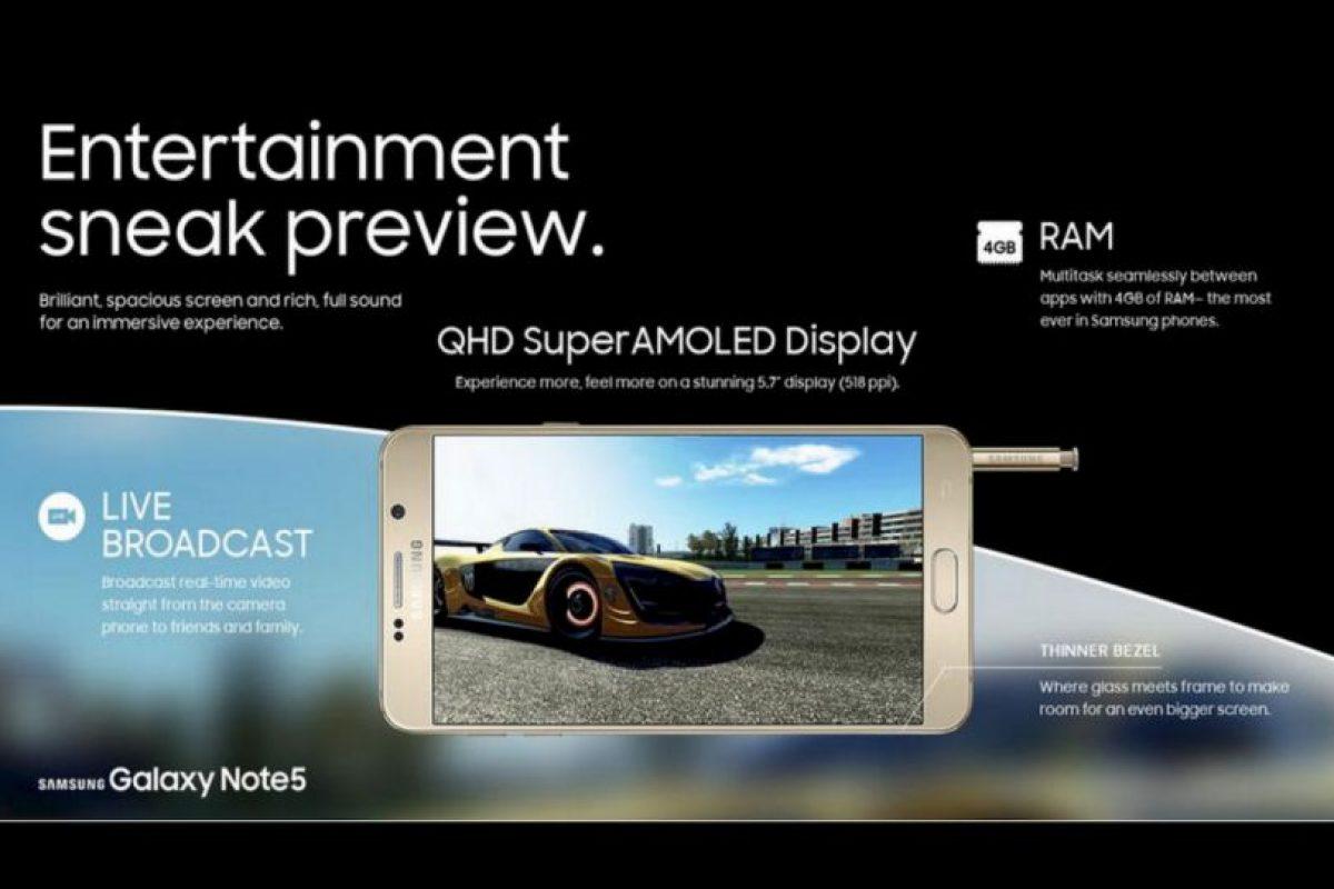 4GB de RAM y acoplamiento de videos con el borde curvo Foto:SamsungSamsung. Imagen Por: