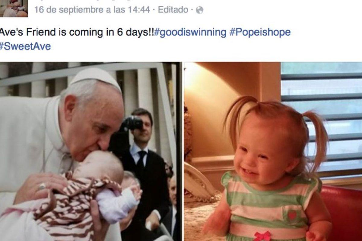 La familia de la pequeña esperaba con ansia la visita del Papa Foto:Vía facebook.com/lynn.cassidy2. Imagen Por: