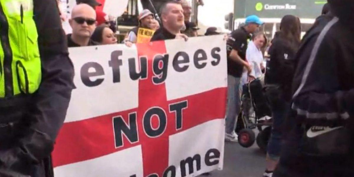 Marchas en Europa contra refugiados