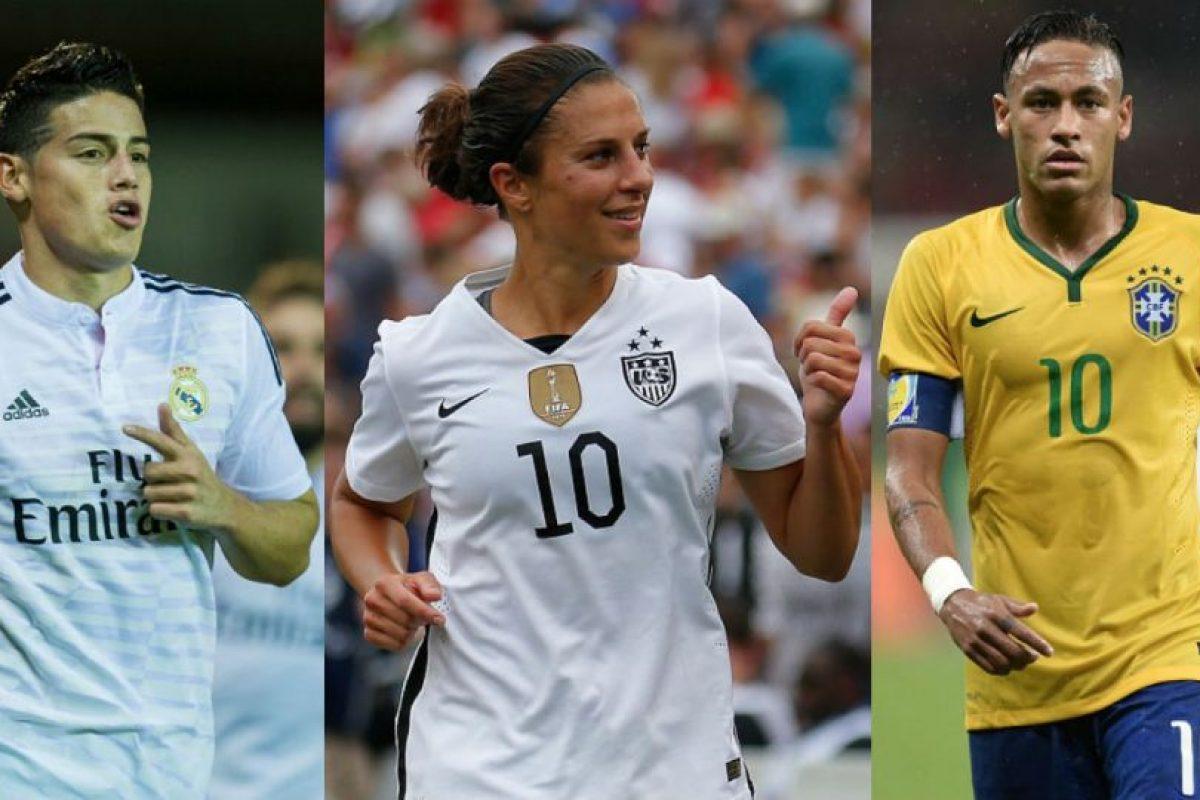 """La estadounidense Carli Lloyd es mejor que James y Neymar en el """"FIFA 16"""". Foto:Getty Images. Imagen Por:"""