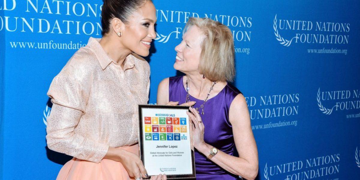 Jennifer López fue nombrada defensora de mujeres y niñas por Naciones Unidas