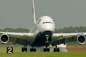 Se trata de un Airbus A380 Foto:Getty Images. Imagen Por: