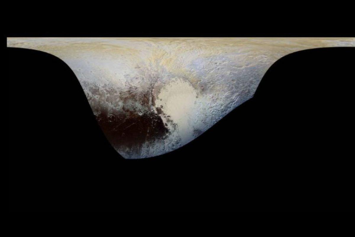 Nunca se habían hecho imágenes de los colores de Plutón tan detalladas. Foto:Vía nasa.gov. Imagen Por:
